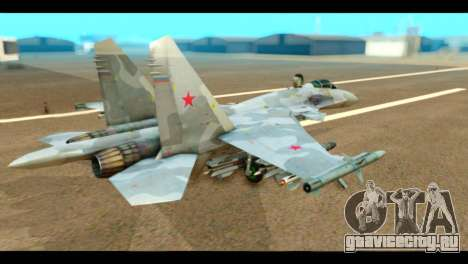 SU-37 Terminator Russian AF Camo для GTA San Andreas вид слева