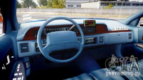 Chevrolet Caprice 1993 LCPD Without Hubcabs ELS для GTA 4 вид сзади