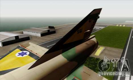 Dassault Mirage III AFI для GTA San Andreas вид сзади слева