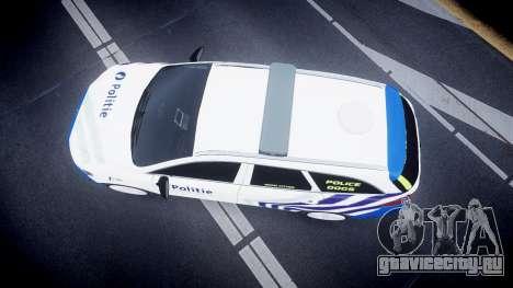 Ford Fusion Estate Belgian Police [ELS] Dog Unit для GTA 4 вид справа