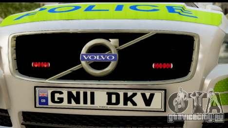 Volvo V70 Kent Police для GTA San Andreas вид сзади слева