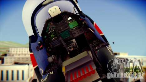 Dassault Mirage 2000-10 Black для GTA San Andreas вид сзади