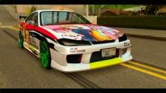 Nissan Silvia S15 Drift Hirasawa Yui Itasha для GTA San Andreas