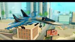 SU-34 Fullback Russian Air Force Camo Blue для GTA San Andreas