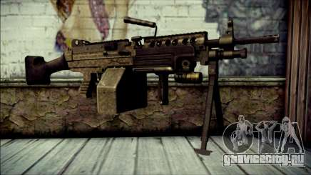 Gold M60 with Custom GTA 5 Icon для GTA San Andreas