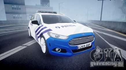 Ford Fusion Estate Belgian Police [ELS] Dog Unit для GTA 4