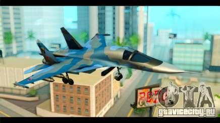 SU-34 Fullback Russian Air Force Camo Blue для GTA San Andreas