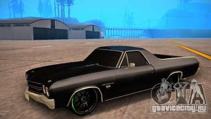 Chevrolet El Camino SS Green Hornet для GTA San Andreas