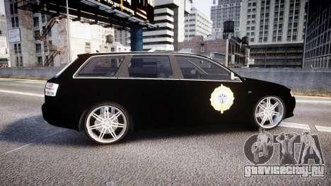 Audi S4 Avant Serbian Police [ELS] для GTA 4 вид слева