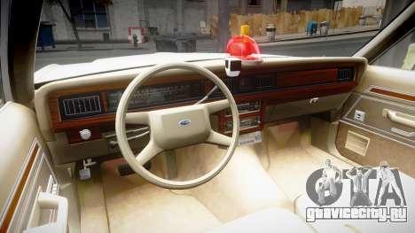 Ford LTD Crown Victoria 1987 Detective [ELS] v2 для GTA 4 вид сзади