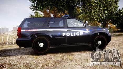 Chevrolet Tahoe SPVQ [ELS] для GTA 4 вид слева