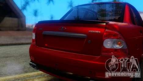 ВАЗ 2170 AMG для GTA San Andreas вид сзади