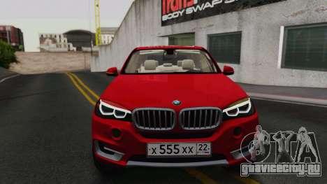 BMW X5 F15 2014 для GTA San Andreas вид слева