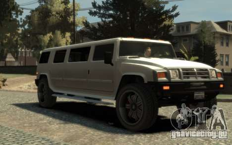 Mammoth Patriot Limousine для GTA 4 вид справа