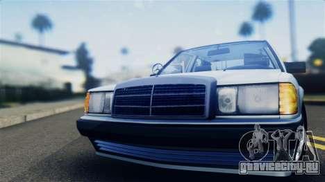 Mercedes-Benz 190E (W201) для GTA San Andreas вид сзади слева