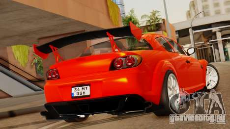 Mazda RX8 Drifter для GTA San Andreas вид слева