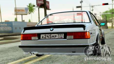 BMW M635CSi E24 1984 для GTA San Andreas вид слева
