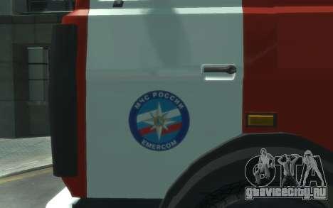 МАЗ 533702 МЧС России для GTA 4 вид слева