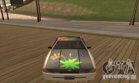 Винил Elegy Winged для GTA San Andreas вид справа