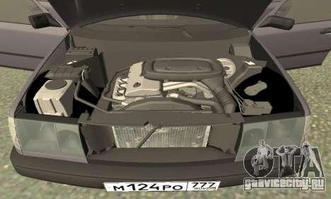 Mercedes-Benz W124 E200 для GTA San Andreas вид изнутри