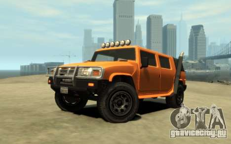 Mammoth Patriot Pickup v2 для GTA 4 вид изнутри
