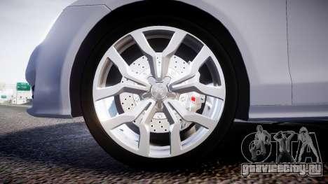 Audi A7 для GTA 4 вид сзади