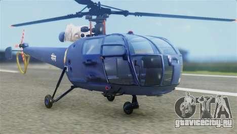 Indian Navy CHETAK Heli Skin для GTA San Andreas
