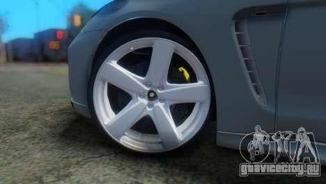 Porsche Panamera Turbo для GTA San Andreas вид сзади слева