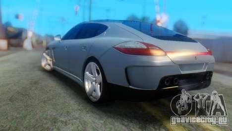 Porsche Panamera Turbo для GTA San Andreas вид слева