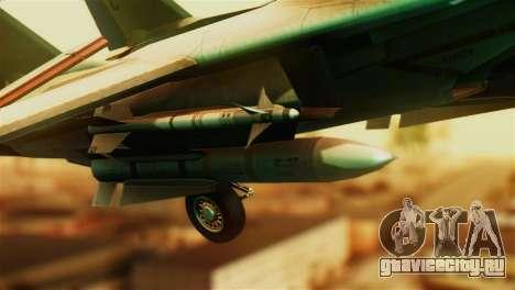F-14D VF-213 Black Lions для GTA San Andreas вид справа