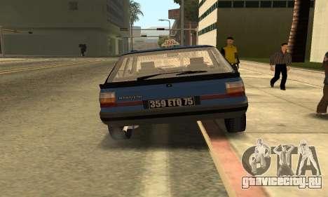 Renault 11 TXE Taxi для GTA San Andreas вид сзади
