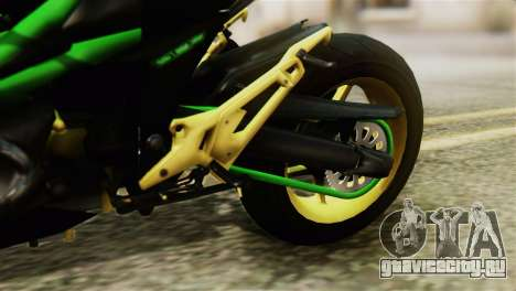 Kawasaki Z800 Modified для GTA San Andreas вид сзади