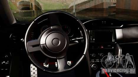 Toyota GT86 (ZN6) 2012 PJ для GTA San Andreas вид справа
