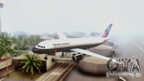 Airbus A320-200 British Airways для GTA San Andreas