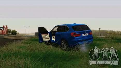 BMW X5 F15 2014 для GTA San Andreas вид изнутри