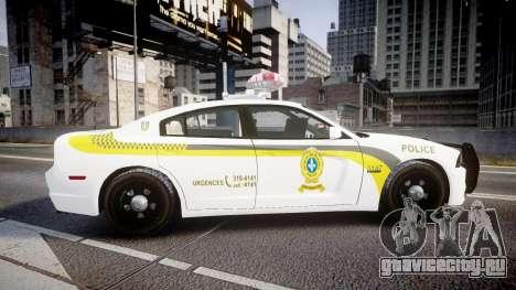 Dodge Charger Surete Du Quebec [ELS] для GTA 4 вид слева