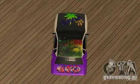 Винил Elegy Winged для GTA San Andreas вид сзади