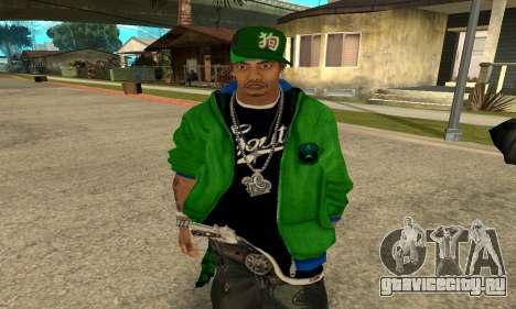 Groove St. Nigga Skin Second для GTA San Andreas