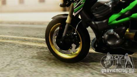 Kawasaki Z800 Modified для GTA San Andreas вид сзади слева