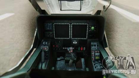 Changhe WZ-10 для GTA San Andreas вид сзади