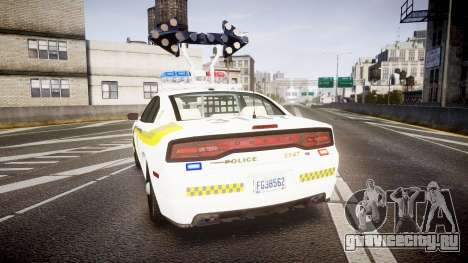 Dodge Charger Surete Du Quebec [ELS] для GTA 4 вид сзади слева