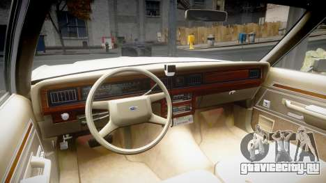 Ford LTD Crown Victoria 1987 Detective [ELS] для GTA 4 вид сзади