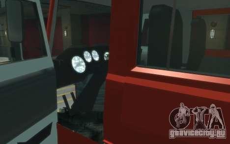 МАЗ 533702 МЧС России для GTA 4 вид сзади