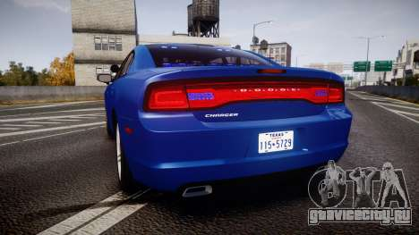 Dodge Charger SWAT Tactical Unit [ELS] bl для GTA 4 вид сзади слева