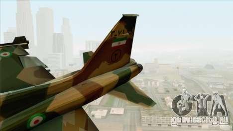 Northrop F-5ES IRIAF для GTA San Andreas вид сзади слева