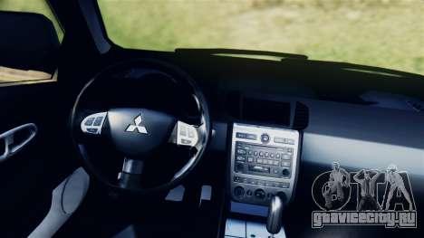 Mitsubishi Pajero 2014 Sport Dakar Offroad для GTA San Andreas вид сзади слева