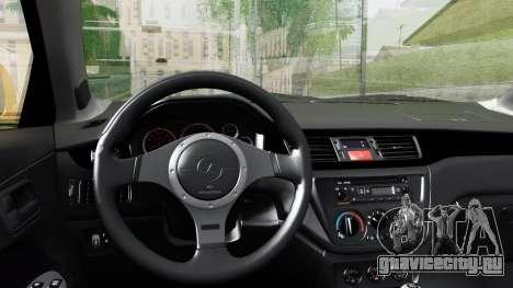 Mitsubishi Lancer Evolution IX для GTA San Andreas вид справа