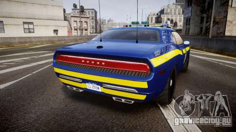 Dodge Challenger NYSP [ELS] для GTA 4 вид сзади слева