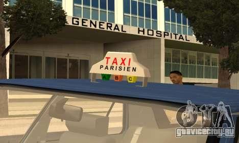 Renault 11 TXE Taxi для GTA San Andreas двигатель