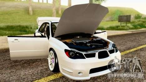 Subaru Impreza WRX STI Stance для GTA San Andreas вид сзади